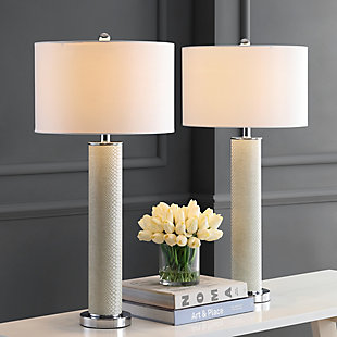 Faux Snakeskin Table Lamp (Set of 2), Cream, large