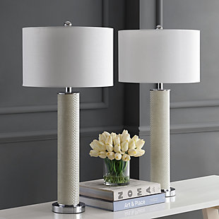 Faux Snakeskin Table Lamp (Set of 2), , rollover