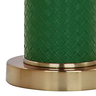 Faux Leather Table Lamp (Set of 2), Emerald, large