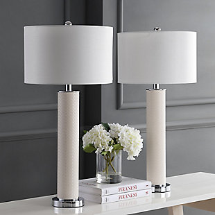 Faux Leather Table Lamp (Set of 2), , rollover