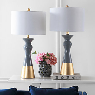 Ceramic Two Toned Table Lamp (Set of 2), , rollover