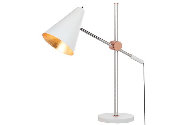 Metal Table Lamp, White, large
