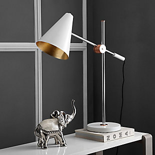 Metal Table Lamp, White, rollover