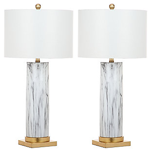 Faux Marble Table Lamp (Set of 2), , large