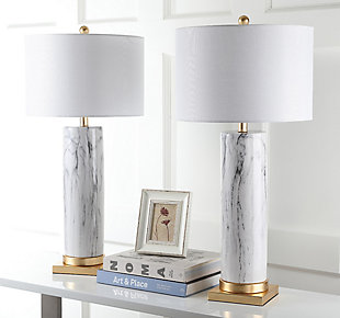 Faux Marble Table Lamp (Set of 2), , rollover