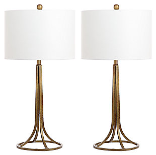 Antique Bronze Finished Table Lamp (Set of 2), , large