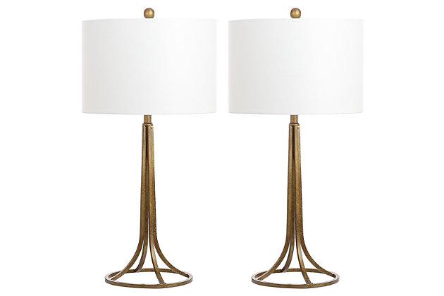 Antique Bronze Finished Table Lamp (Set of 2), , large