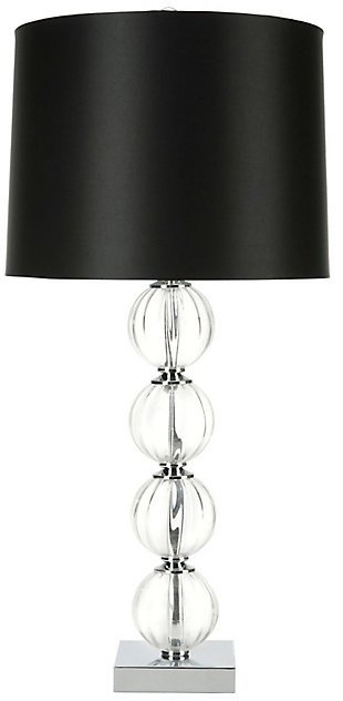 Stacked Globe Table Lamp, Black, rollover