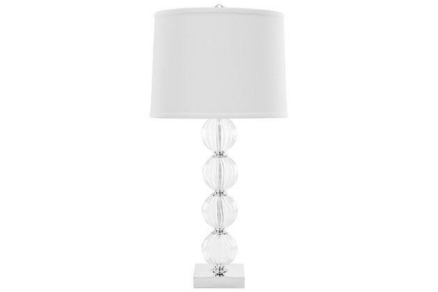 Stacked Globe Table Lamp, Transparent, large