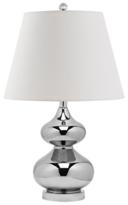 Double Gourd Glass Table Lamp, Silver Finish, large
