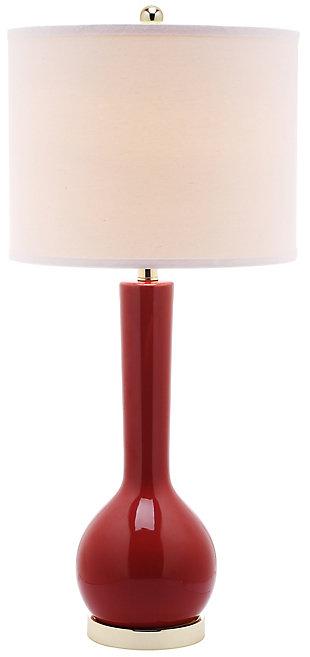Ceramic Long Neck Table Lamp, Sangria, large