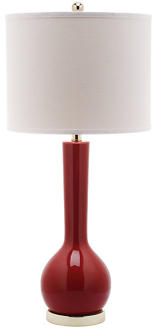 Ceramic Long Neck Table Lamp, Sangria, rollover
