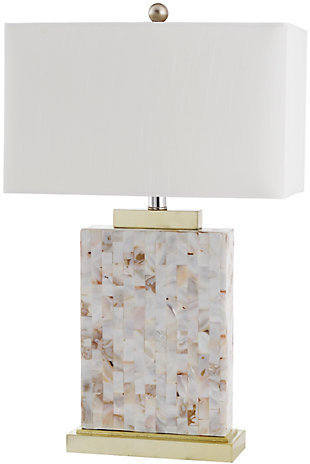 Shell Rectangular Table Lamp, , rollover