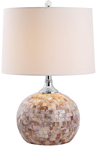 Shell Gourd Shaped Table Lamp, Taupe, large