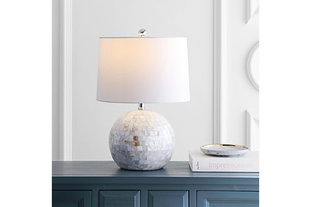 Shell Table Lamp, Ivory, large