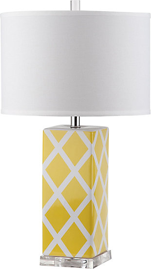 Lattice Patterned Table Lamp, , rollover