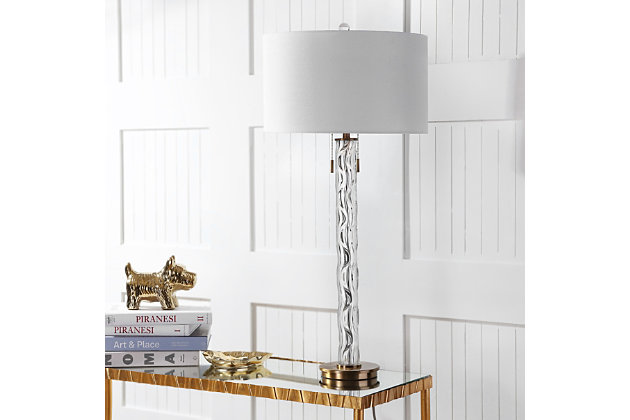 Glass Rayna Table Lamp, , large