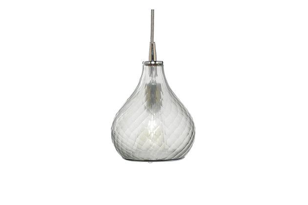 Medium Light Pendant, Clear, large