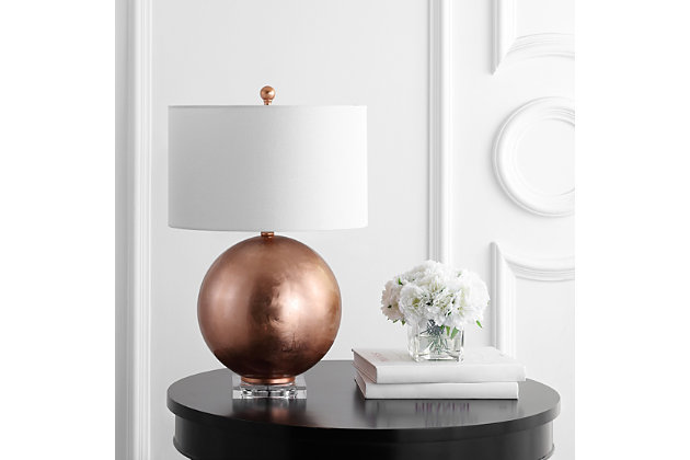 Copper Finished Table Lamp, , large