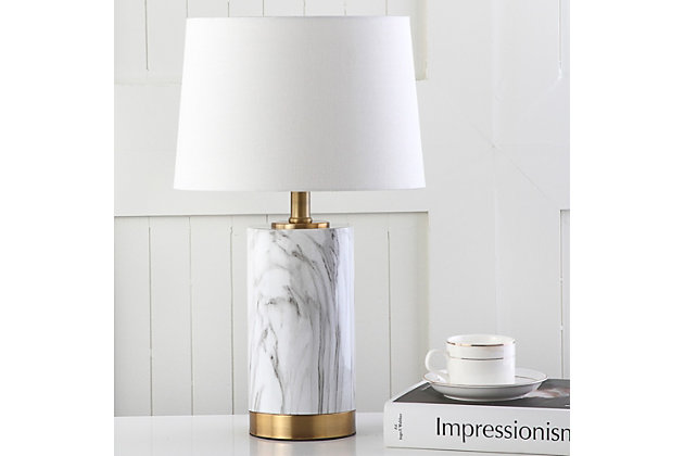 Faux Marble Table Lamp, , large