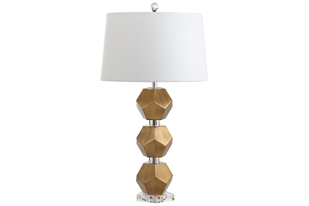Sculpted Metal Table Lamp, , large