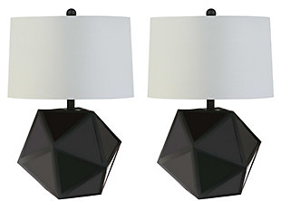 Sculpted Three Dimensional Table Lamp (Set of 2), , rollover