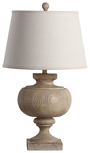 Faux Wood Table Lamp, , large