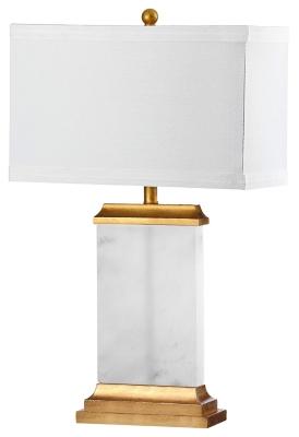Image of Alabaster Table Lamp, Alabaster/Gold Finish