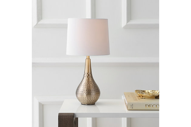 Textured Metal Table Lamp, , large
