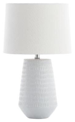 Ceramic Textured Table Lamp, White, large