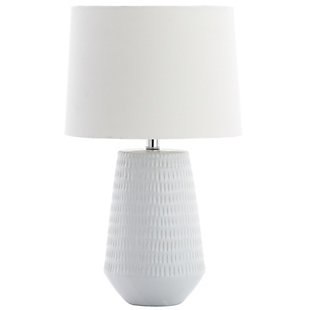 Ceramic Textured Table Lamp, White, rollover