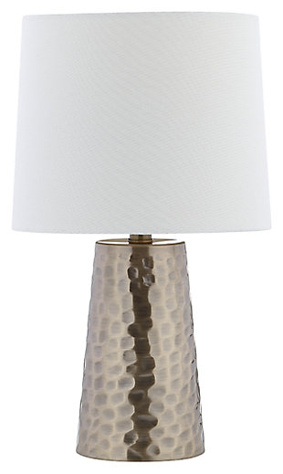 Metal Textured Table Lamp, , large