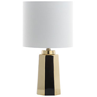 Ceramic Gold Finished Table Lamp, , rollover