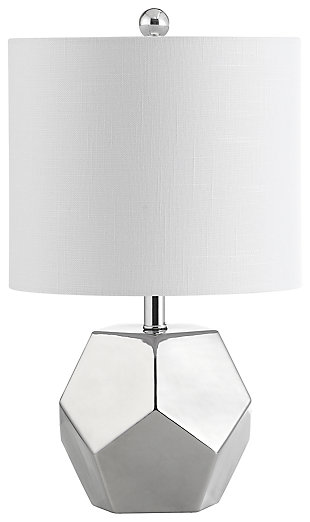 Silver Finished Modern Table Lamp, , large