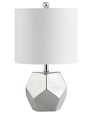 Silver Finished Modern Table Lamp, , rollover