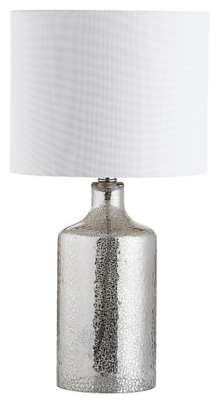 Silver Finished Contemporary Table Lamp, , large