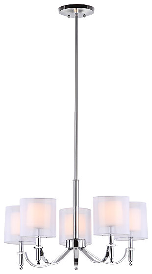 "Five Light 26.5"" Chandelier, , large"