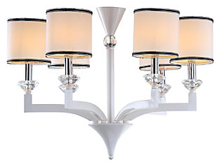 "Six Light 27.5"" Chandelier, , rollover"