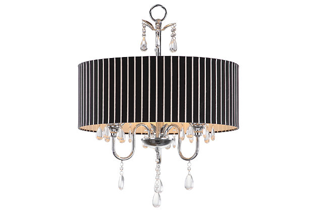 "Three Light 18"" Chandelier, , large"