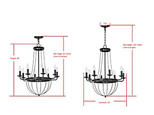 "Adjustable Length 23"" Chandelier, , large"