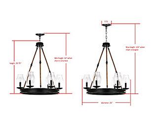 """Adjustable Length 25"""" Chandelier, , large"""