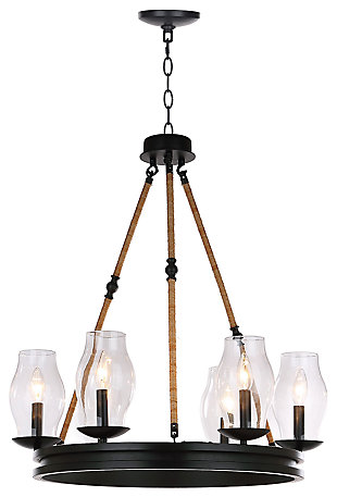 "Adjustable Length 25"" Chandelier, , large"