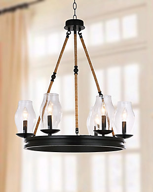 "Adjustable Length 25"" Chandelier, , rollover"