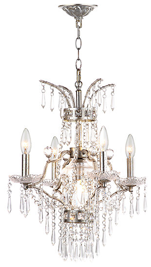 "Adjustable Length 17.75"" Chandelier, , large"