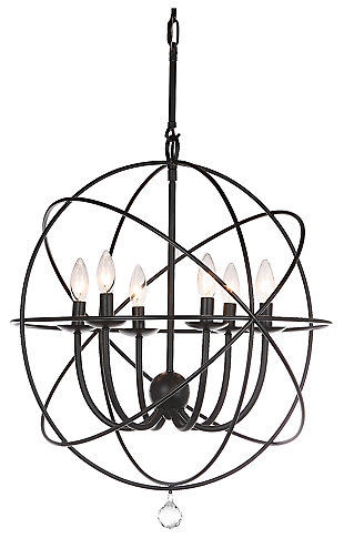"Adjustable Length 22"" Chandelier, , large"