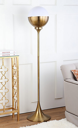 "Gold Finish 63.5"" Floor Lamp, , rollover"