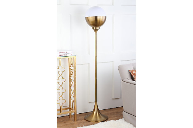 "Gold Finish 63.5"" Floor Lamp, , large"