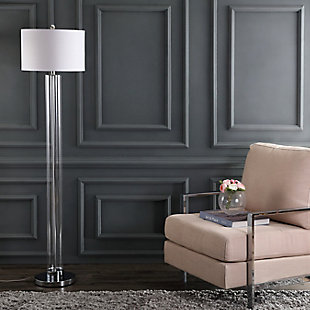 "Glass Modern 64"" Floor Lamp, , rollover"