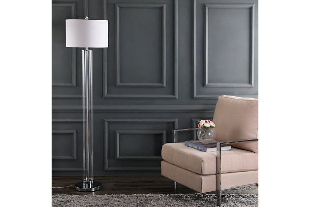 "Glass Modern 64"" Floor Lamp, , large"