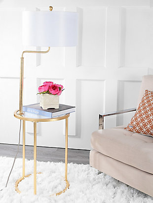 "Gold Finished End Table 57"" Floor Lamp, , rollover"
